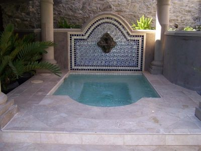 Pool with Fountain and Tile Detail