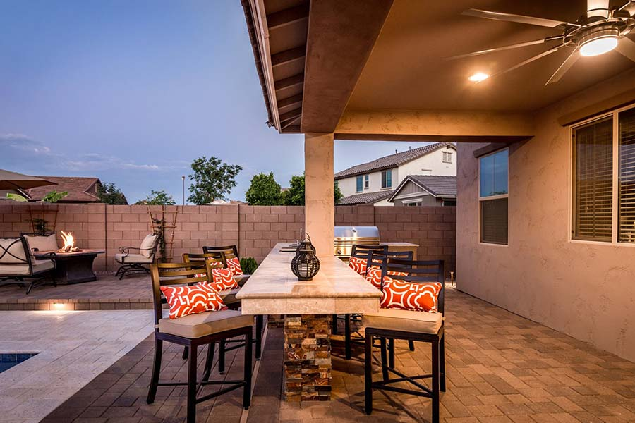 Extended Dining Area off Built-In BBQ