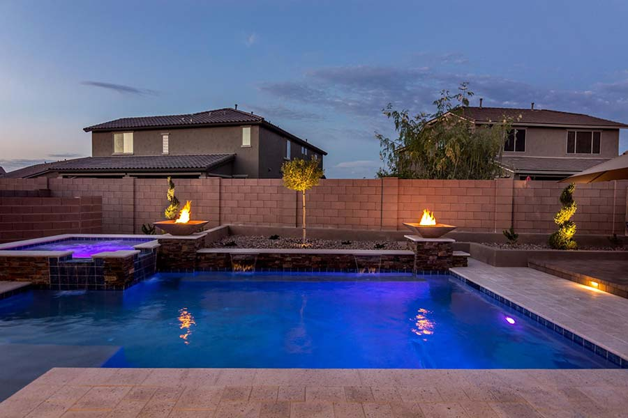 Spa, LED Lighting Effects & Fire Features